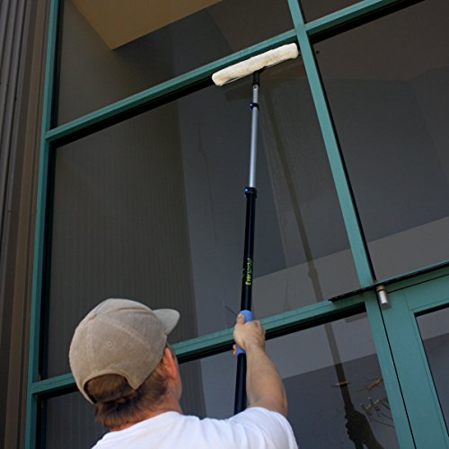 EVERSPROUT Pro-Series 7-to-20 Foot Squeegee Window Scrubber (25+ Ft. Reach) | 2-in-1 Window Cleaning Combo | Extra-Wide 16'' Squeegee with Light-Weight, Aluminum Extension Pole by Eversprout (Image #6)