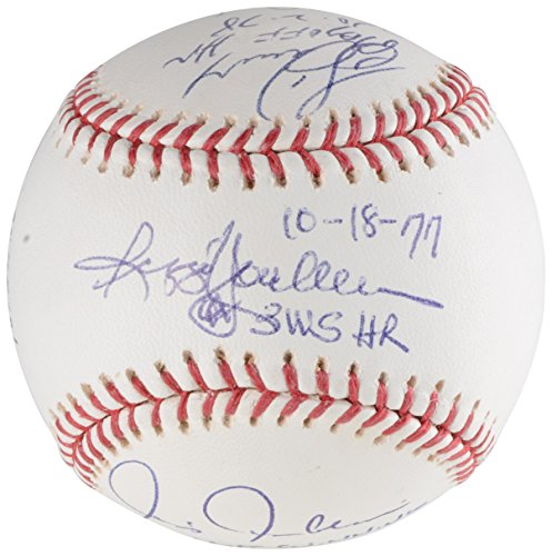 New York Yankees Autographed Hitting Greats Baseball with 6 Signatures - PSA/DNA Certified - Autographed Baseballs