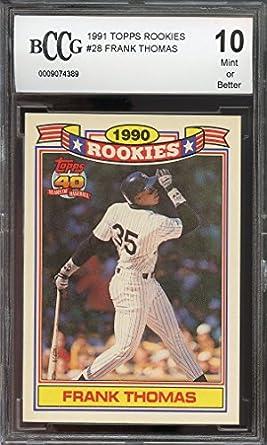 Amazoncom 1991 Topps Rookies 28 Frank Thomas Chicago White Sox