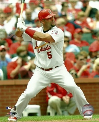 Albert Pujols St. Louis Cardinals Batting Action 8x10 Photo