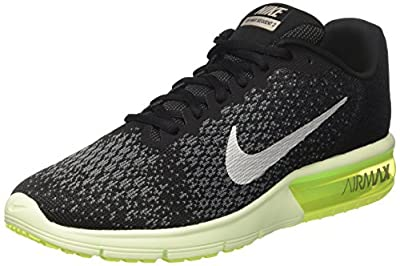 Nike Mens AIR MAX Sequent 2, Black/MTLC Cool Grey-Anthracite, 6.5