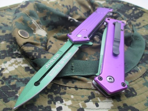 "TAC-FORCE Assisted Opening Linerlock ""Why So Serious"" Design"