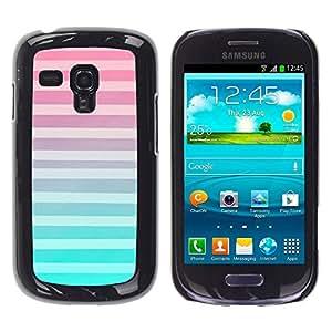 For Samsung Galaxy S3 III MINI (NOT REGULAR!) / I8190 / I8190N Case , Teal Pink Purple Abstract Pattern - Diseño Patrón Teléfono Caso Cubierta Case Bumper Duro Protección Case Cover Funda
