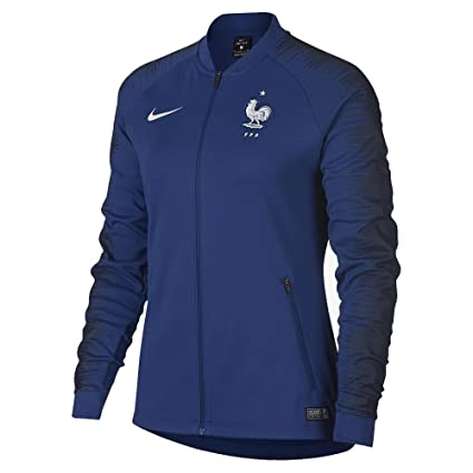 : Nike 2018 2019 France Anthem Jacket (Deep Royal