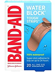 BAND-AID Waterproof Tough-Strips Bandages 20 ea (Pack of 4)