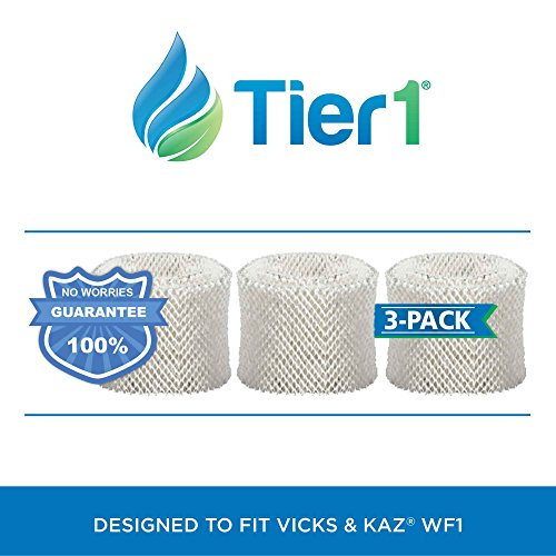 Tier1 Kaz WF1 & Emerson HDF-1 Comparable Humidifier Wick Filter Replacement for Models 885, 3000 3 Pack (Filter Water Wicking)