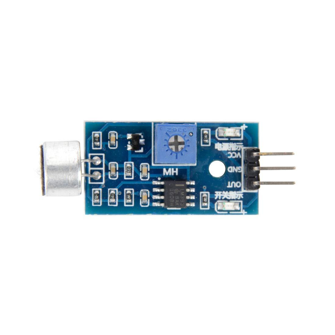 Jolicobo Sound Detection Sensor Module Schallsensormodul mit External Edition f/ür Arduino