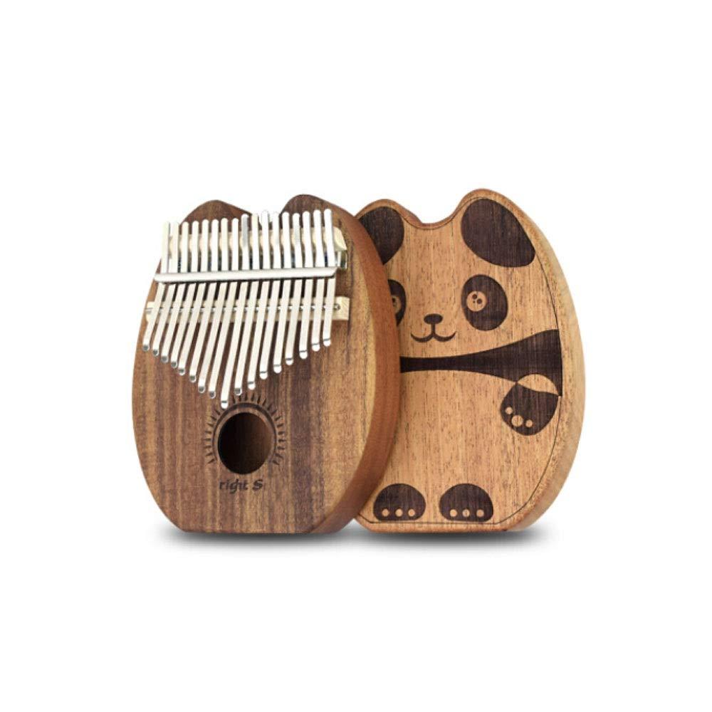 Youshangshipin Kalimba, 17-tone Kalimba Thumb Piano, Whole Wooden Hollow Finger Children Adult Cat Models, (style 1, Gifts; Original Piano Box + Tuning Hammer + Phonetic Stickers + Metal Card Zudi, Et