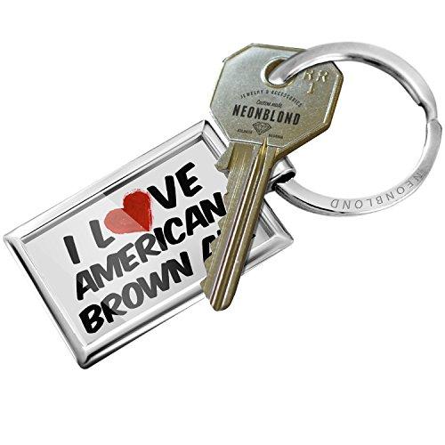 American Brown Ale (Keychain I Love American Brown Ale Beer - NEONBLOND)