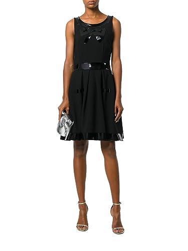 Moschino Vestito Donna A046654241555 Acetato Nero