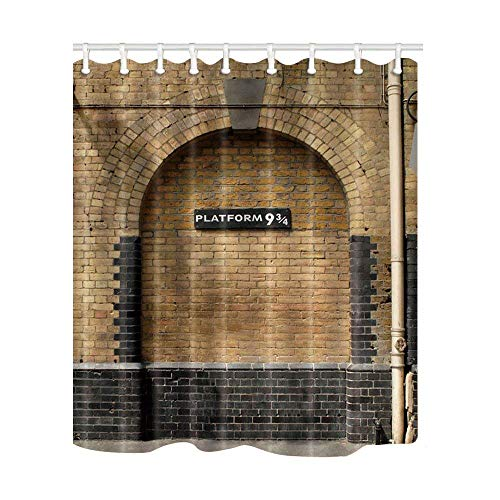 SZDR Platform 9 And 3/4 Of King's Cross Station - Secret Passage To The Magic School Decorative Shower Curtain,Bathroom Accessories, 69X70 Inches, Perfect Anti-Mildew Polyester Fabric Shower ()