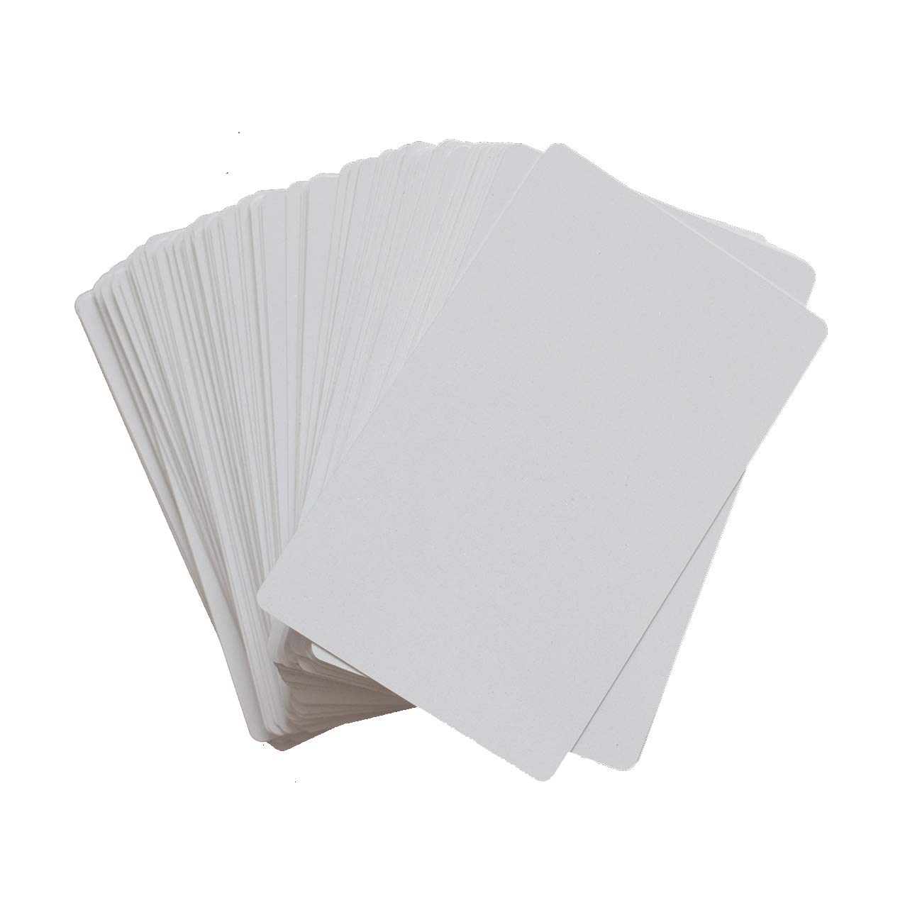 100pcs Sublimation Metal Business Cards Laser Engraved Metal Business Cards Sublimation Blanks 3.4x2.1in Thicknes (0.30mm) (White) by world-paper (Image #1)