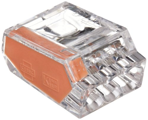 Morris Products 23013 Push In Wire Connector, Orange, #12-#22 Awg, 3 Poles (Pack of 100)