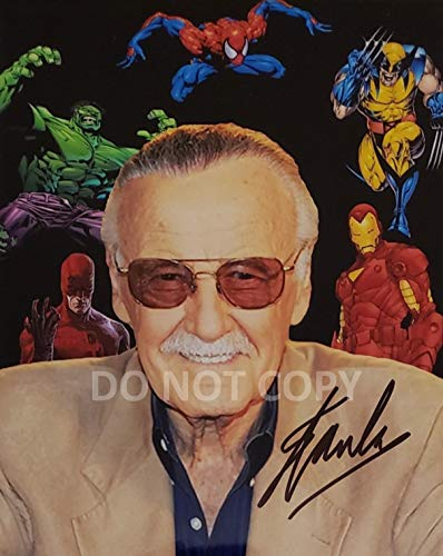 Stan Lee comic book legend reprint signed autographed photo #3 RP Marvel Spider-Man
