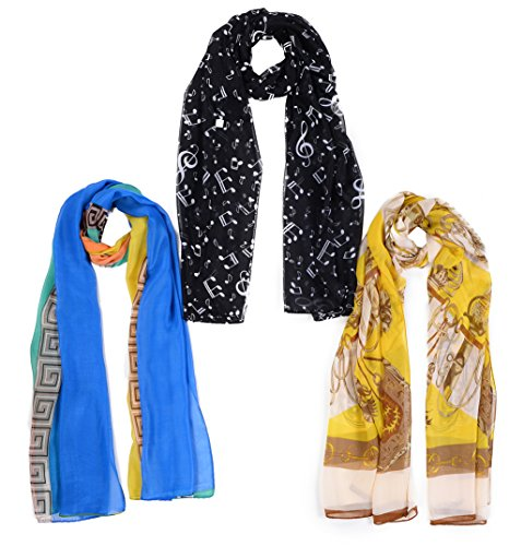 Salutto Womens Chiffon Fashion Scarves product image