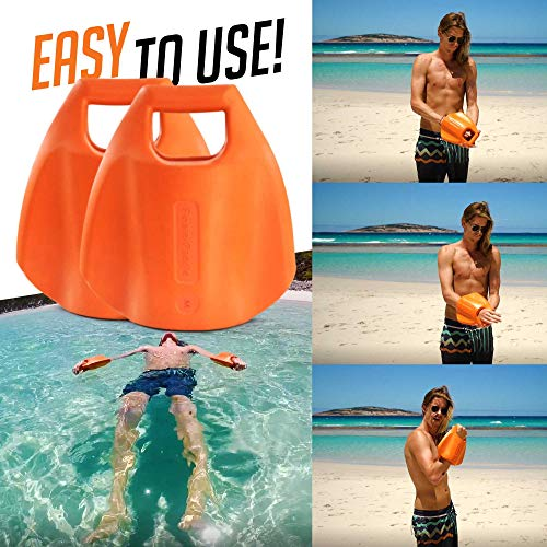 FloaterPaddle Swim Aid (Large) - A Kickboard, A Swim Paddle, and Water Dumbbell in ()