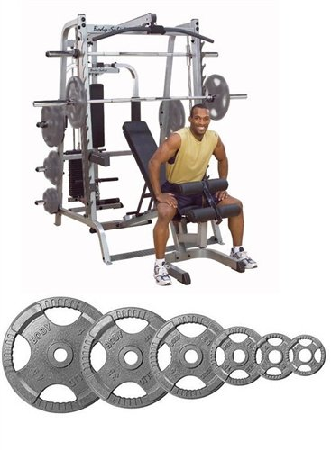 Body Solidシリーズ7スミスシステムwith Fidベンチと255 lbオリンピックセット