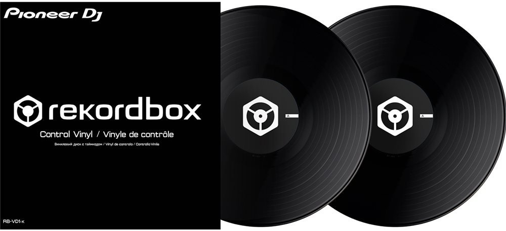 Pioneer DJ rekordbox Control Vinyl 2x Black RB-VD1-K