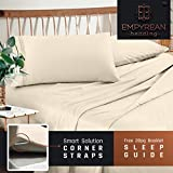 Premium King Sheets Set - Cream Beige Ivory Hotel Luxury 4-Piece Bed Set, Extra Deep Pocket Special Super Fit Fitted Sheet, Best Quality Microfiber Linen Soft & Durable Design + Better Sleep Guide