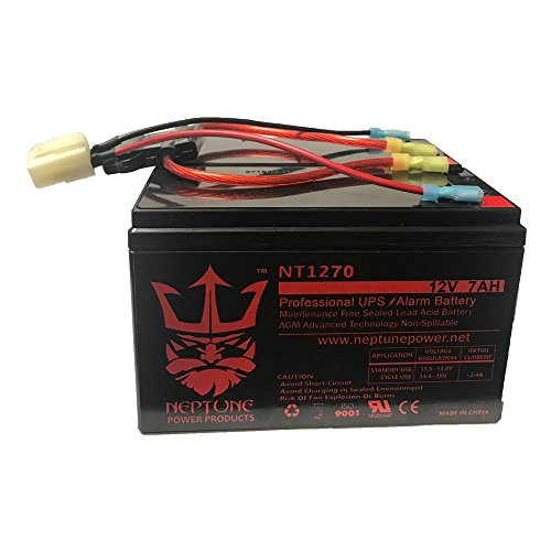 Razor Scooter 12V 7Ah Battery Replacement Set of 2 with New Wiring Harness (replaces 6-DW-7) (Wiring 2 6 Volt Batteries 12 Volts)