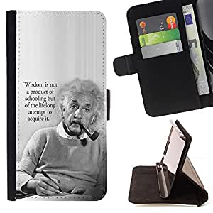 For Samsung Galaxy Note 4 IV Einstein Albert Science Quote Smart Man Style PU Leather Case Wallet Flip Stand Flap Closure Cover