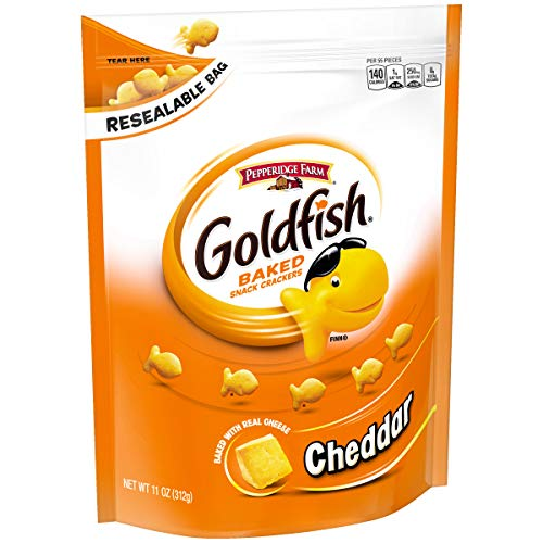 Pepperidge Farm, Goldfish, Crackers, Cheddar, 11 oz., Resealable Bag
