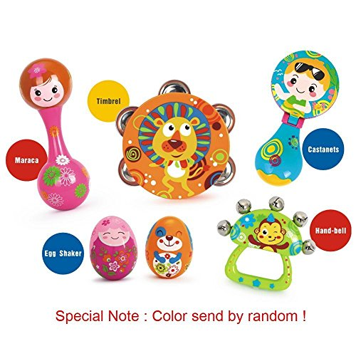 Musical Instruments for Kids,Vatos Early Educational Toy,6 ABS Adorable Animal Drum Rattle Egg Shaker Maracas Top Selling Baby Musical Toys for Toddler Baby Kids Musical Instruments Best Baby Gift by VATOS