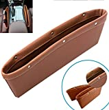 1 Pcs Car Seat Pocket Organizer For Audi Ford BMW Toyota Accessories (Brown)