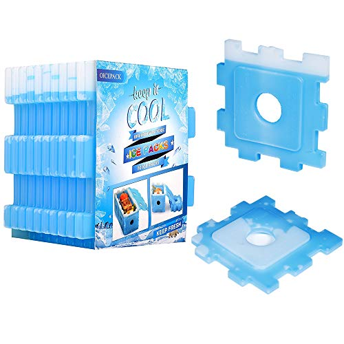 OICEPACK Ice Packs (set of 10),Cool Pack for Lunch Box, Freezer Packs for Lunch Bags and Coolers, Kids & Adults, Reusable Ice Pack For Coolers, Small Ice Pack Long Lasting, Perfect Food Chiller