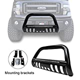 #4: Black Led Bull Bar for 04-17 Ford F-150/03-17 Expedition Bumper Grille Guard with Integrated 72W Cree Led light Bar