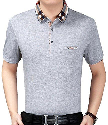 Heaven Days(ヘブンデイズ) ポロシャツ ゴルフシャツ チェック柄 シンプル 半袖 メンズ 1706G0700