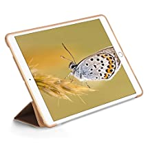 Mini 2 Case,Jennyfly Light-Weight Full Body Protective Case with Hands-Free Stand Feature Slim Soft High QualityTPU Leather Smart Cover Compatible with iPad Mini 1/2/3 - Gold