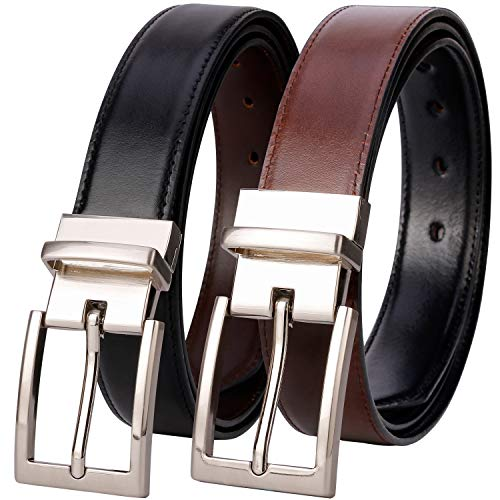 - Belts for Men - Lavemi Mens Reversible Italian Cowhide Leather Dress Belt,One Belt Reverse for 2 Colors (21863-1 130)