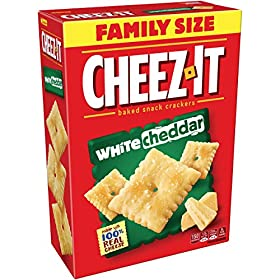 Cheez-It Baked Snack Cheese Crackers, White Cheddar, Family Size, 21 oz Box(Pack of 3)