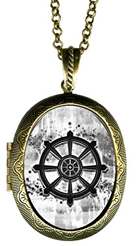 Dharmachakra bw wheel of dharma buddhism bronze gold solid import dharmachakra bw wheel of dharma buddhism bronze gold solid perfume locket pendant aloadofball Choice Image