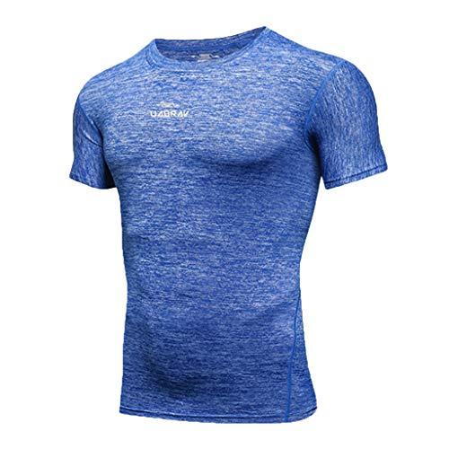 Allenamento Top Fitness Camicetta Nuovo Corta Manica Blu All'aperto Abbigliamento Ujunaor Sportiva Da Uomo FqTP5UB