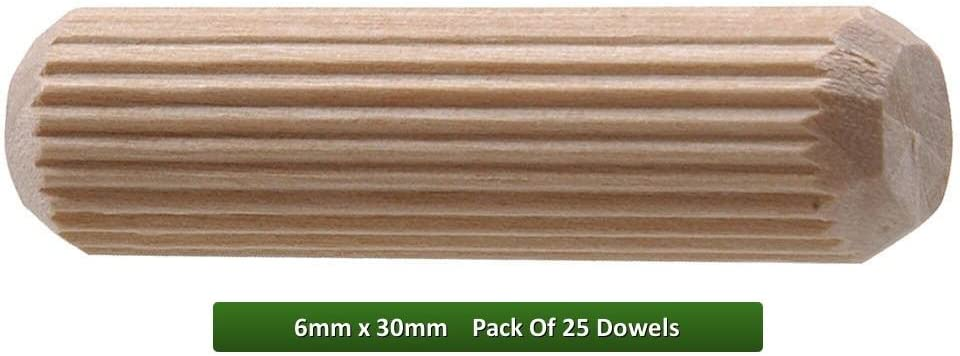 Fort Fasteners Wooden Dowel 6mm x 30mm Pack of 100