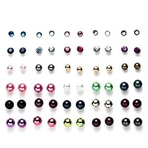 Oaonnea Women's Girl's Assorted Multiple Ball Stud Earrings Set for Summer Vacation Piercing Earrings