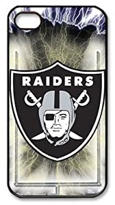LZHCASE Personalized Protective Case for iPhone 4/4S - NFL Oakland Raiders, American Football