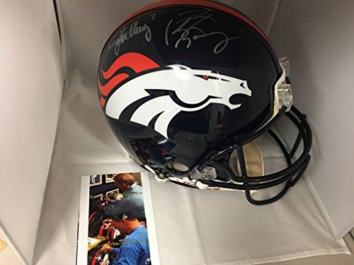 Johns Autographs (Peyton Manning & John Elway Dual Autographed Signed Full Size Denver Broncos Proline Authentic Helmet Dual Player Holograms Elway & Manning)