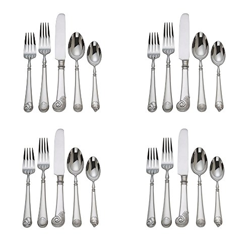 al Williamsburg Gloucester Shell 20pc. Flatware Set (Service for Four) ()