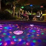 Luci Colorful di luce colore che cambia Bagno LED della discoteca Aqua Glow luce impermeabile in vasca Stagno Centro Spa Hot Tub Vasca da bagno galleggiante lampada