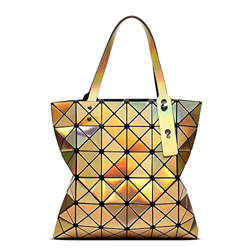Aoligei Sac femme géométrie pliantes femme sac 6 réseau laser unique épaule sac à main fashion D