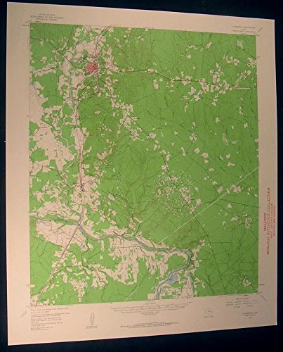Livingston Texas Fish Scale Lake 1960 vintage USGS original Topo chart map