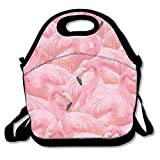 Dozili Flamingo Fever in Pink Large & Thick Neoprene Lunch Bags Insulated Lunch