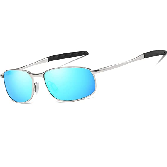 ea4e6f95321 FEIDU Polarized Sport Mens Sunglasses HD Lens Metal Frame Driving Shades FD  9005 (G-blue
