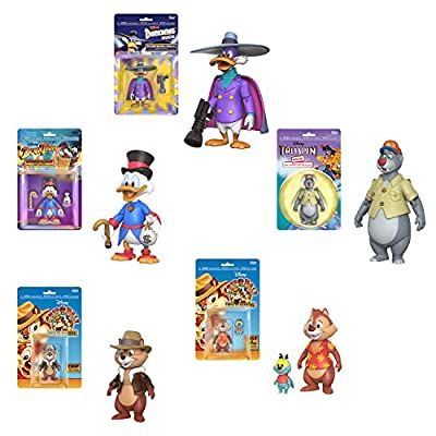 Funko Action Figures Disney Afternoon Darkwing Duck, Scrooge McDuck, Baloo, Chip and Dale Set