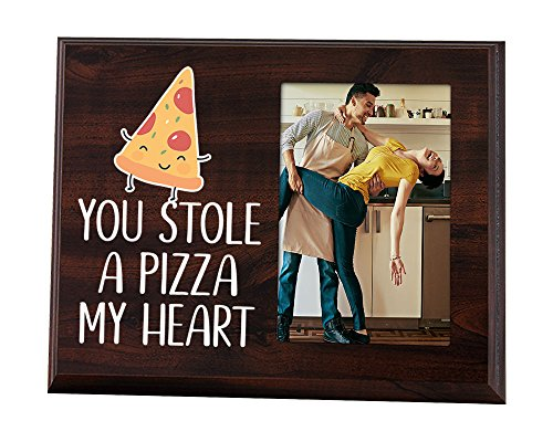 Elegant Signs You stole a pizza my heart Funny Picture frame for Boyfriend or (Heart Pizza)