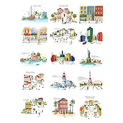 Amazon.com: Luggage Stickers for Suitcases Travel Waterproof ...