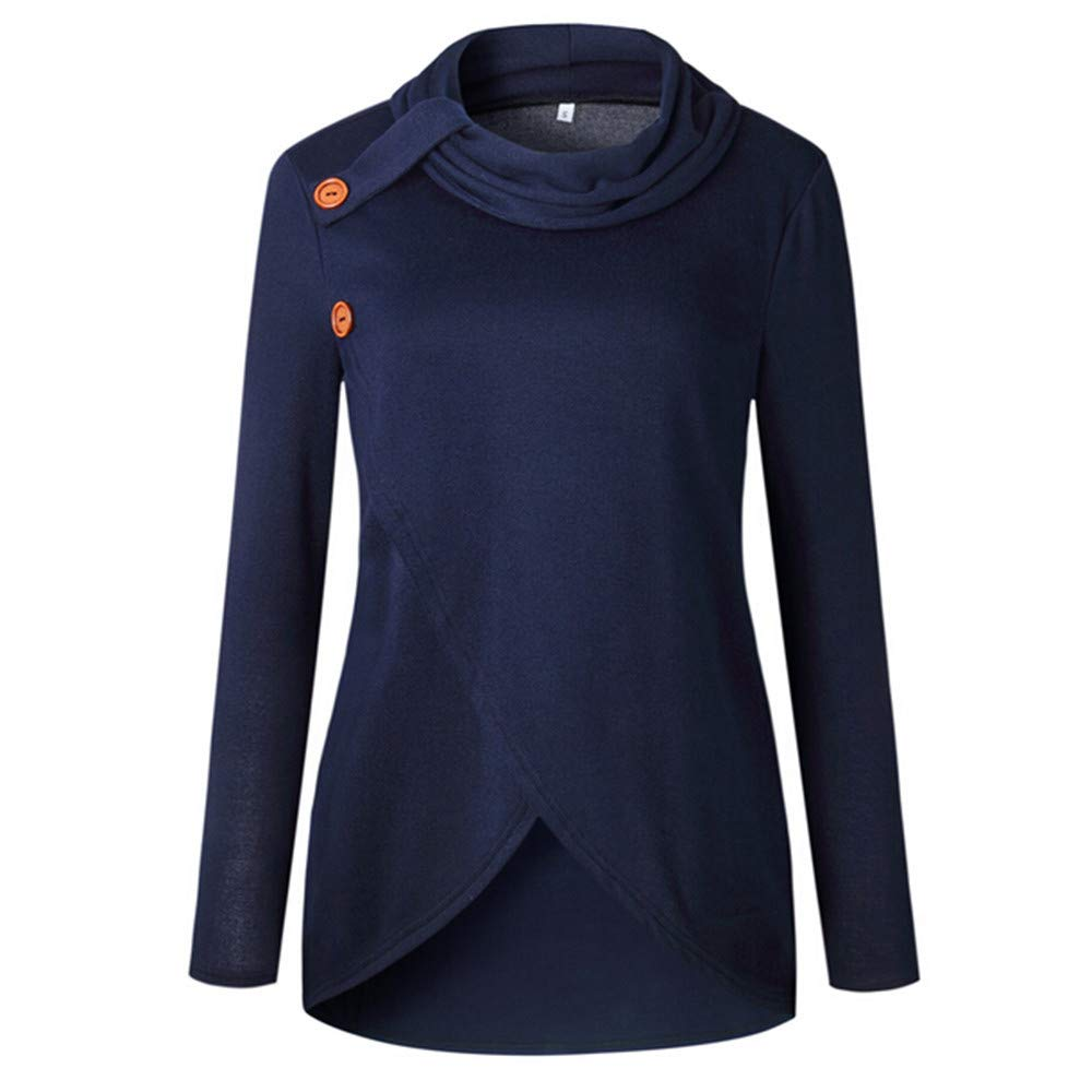 2606b7151377 Camisetas, tops y blusas Jersey de Invierno sólido Manga Larga ...